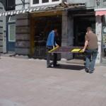 Rampenaufbau 2003